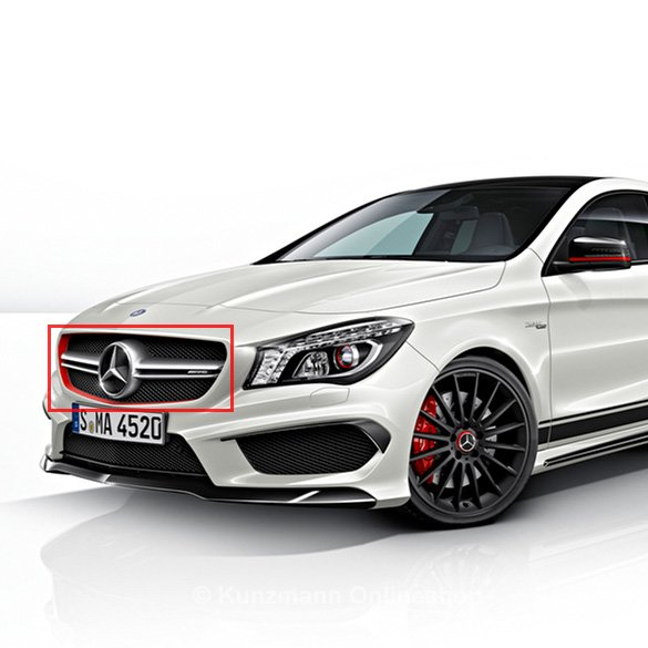 original cla 45 amg edition 1 k hlergrill zierstreifen mercedes benz c117 neu ebay. Black Bedroom Furniture Sets. Home Design Ideas