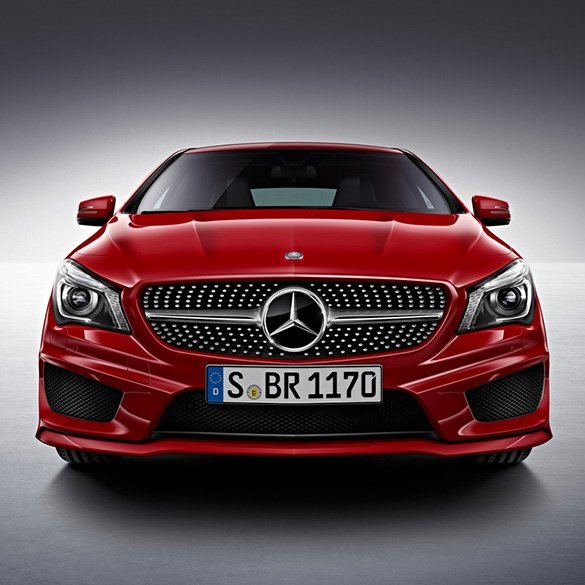 diamantgrill k hlergrill amg paket mercedes benz cla c117. Black Bedroom Furniture Sets. Home Design Ideas