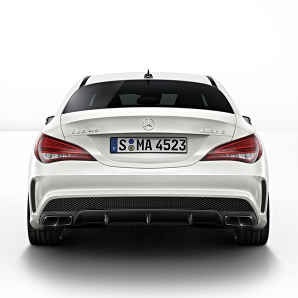 cla 45 amg diffusor package with exhaust tips cla w117. Black Bedroom Furniture Sets. Home Design Ideas