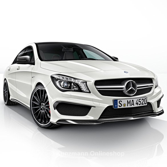 cla 45 amg spoiler lip carbon package genuine mercedes benz. Black Bedroom Furniture Sets. Home Design Ideas