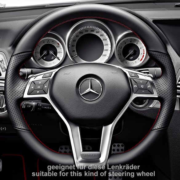 original mercedes benz amg lenkrad blende amg logo w204. Black Bedroom Furniture Sets. Home Design Ideas