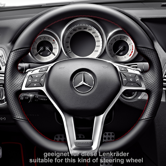 Amg steering wheel cover original mercedes benz for Mercedes benz steering wheel cover
