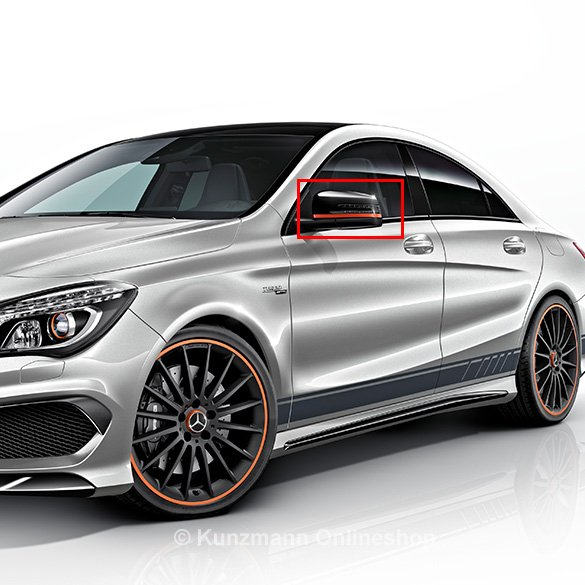 Orange Art Spiegel- Zierstreifen Foliensatz A / CLA / GLA 45 AMG Original Mercedes-Benz