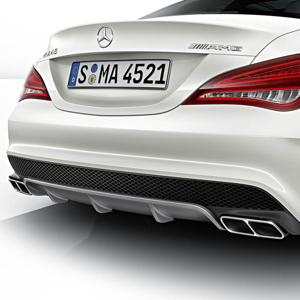 Cla 45 amg performance exhaust tips cla w117 genuine for Mercedes benz performance exhaust