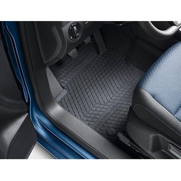 Rubber Floor Mat >> Genuine Vw Caddy 2k Rubber Floor Mats Premium Black With Volkswagen