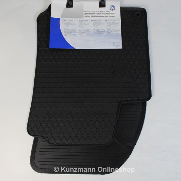 Volkswagen Car Rubber Floor Mats Golf 4 Iv Original In Black
