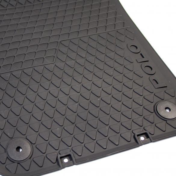 Volkswagen Car Rubber Floor Mats Polo 6r Original Black 6r1061502 82v