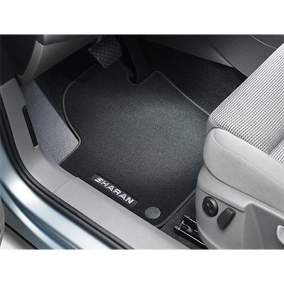 Original Volkswagen Veloursfußmatten Sharan 7N schwarz vorne und ...