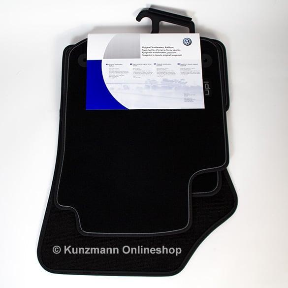Veloursfußmatten Satz vorne und hinten schwarz T-Roc Original Volkswagen NEU