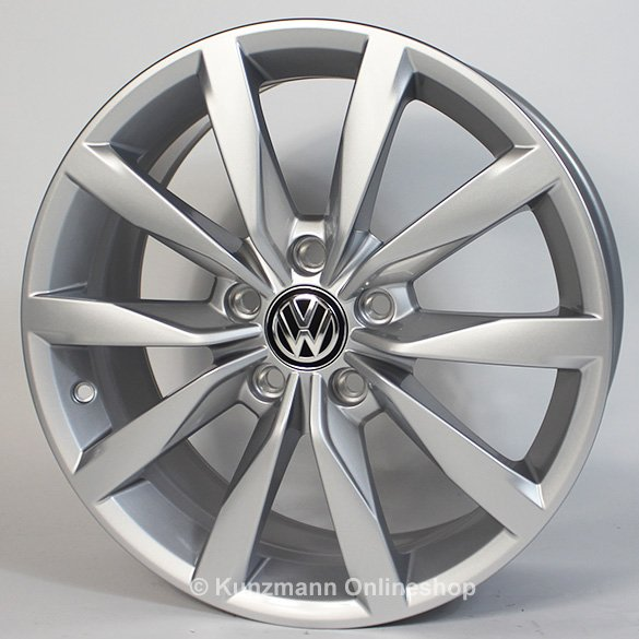 volkswagen 5 twin spoke alloy wheel set 17 inch dijon
