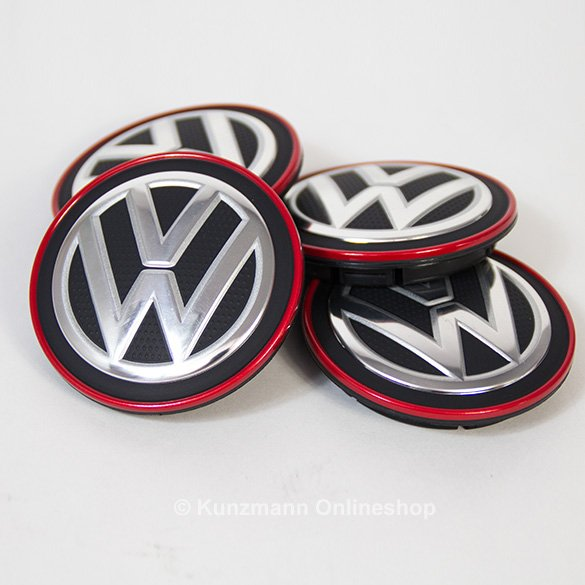 wheel hub cap chrome red vw golf 7 vii original volkswagen. Black Bedroom Furniture Sets. Home Design Ideas