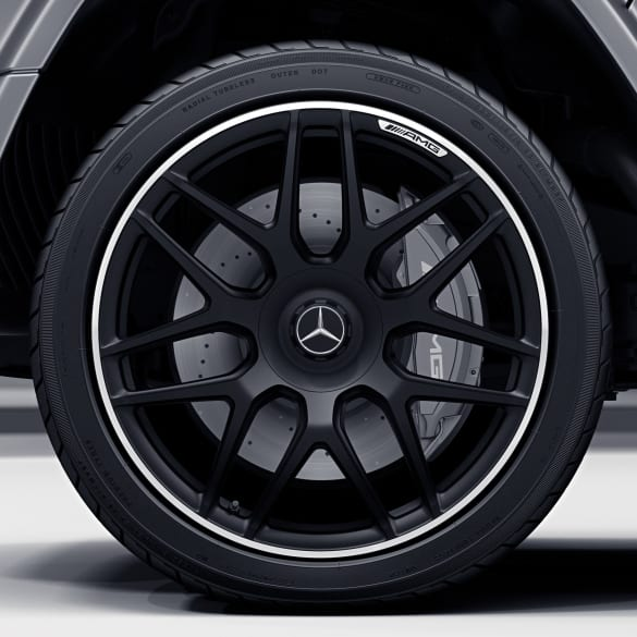 63 Amg 22 Inch Rim Set G Class W463 Cross Spoke Wheel Black Genuine Mercedes Benz