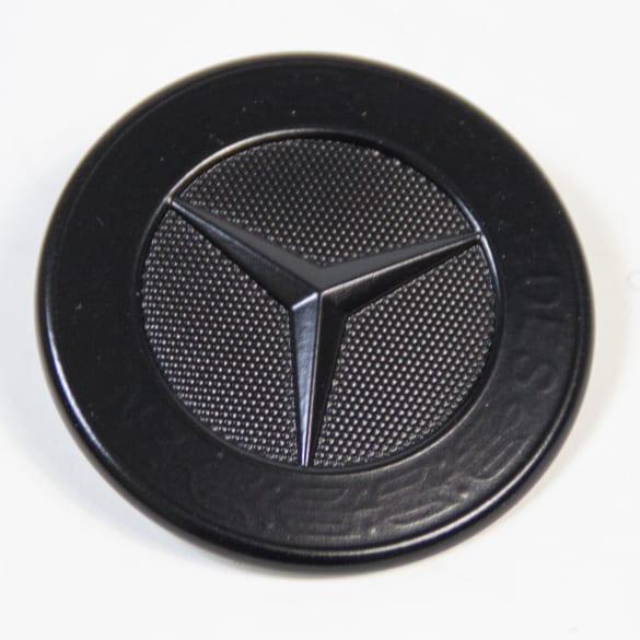 emblem mit stern motorhaube original mercedes benz schwarz. Black Bedroom Furniture Sets. Home Design Ideas