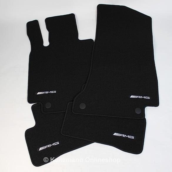Fußmatte Mercedes C-Klasse W205 //T-Modell S205 Velours Original Qualität schwarz