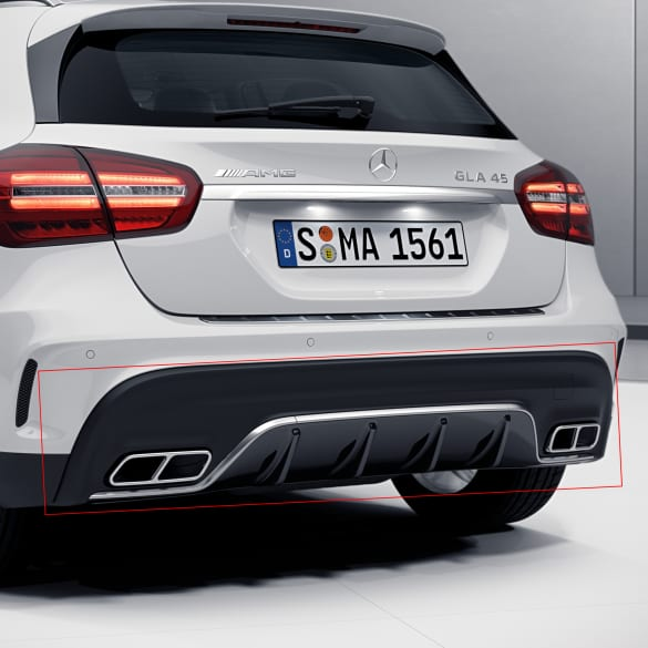 GLA 45 AMG Facelift rear diffusor GLA X156 genuine Mercedes-Benz