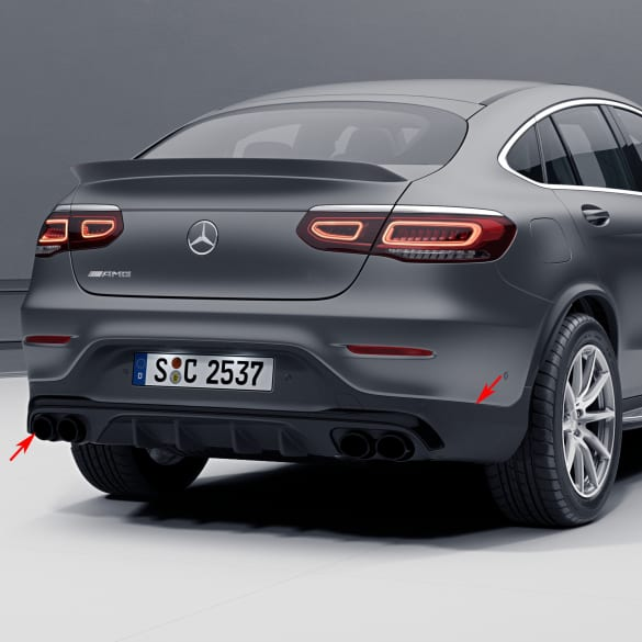 GLC 43 AMG facelift rear diffusor GLC Coupe C253 genuine Mercedes-Benz