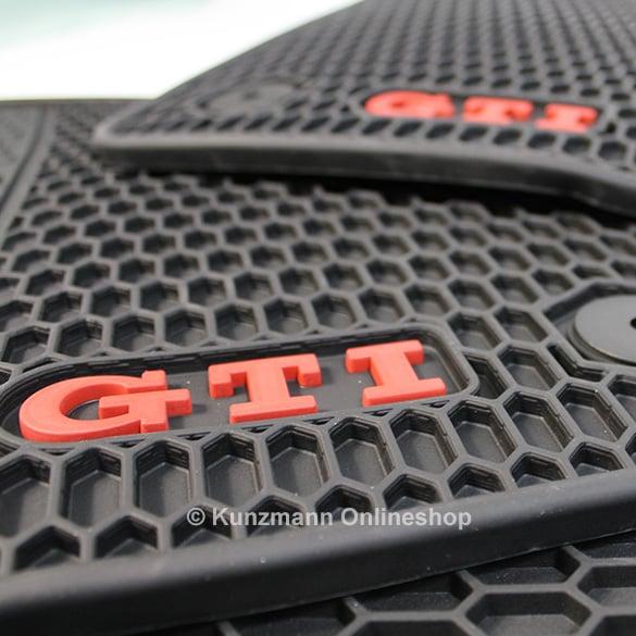 volkswagen car rubber floor mats golf  vii gti original black
