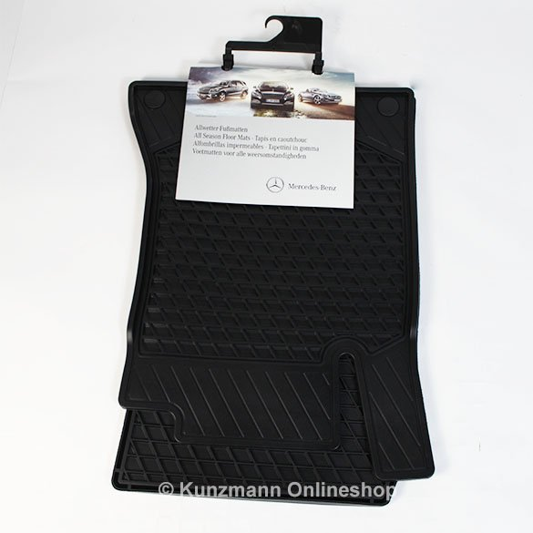 Original Mercedes-Benz Rubber Floor Mats black A-Class W176