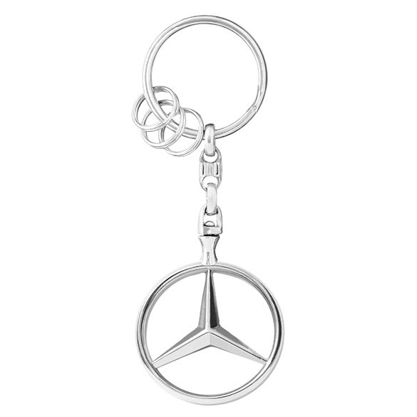 Keychains Brussels Star polished Mercedes-Benz Collection