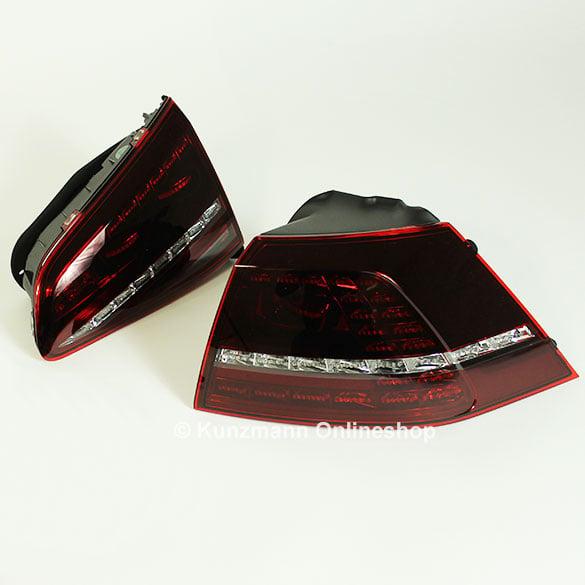 led r ckleuchten set vw golf 7 vii r original volkswagen. Black Bedroom Furniture Sets. Home Design Ideas
