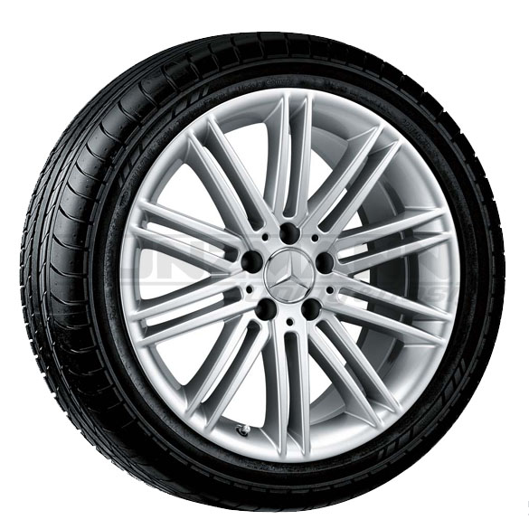 18 inch light alloy wheels in a 10 double spoke design for Mag wheels for mercedes benz