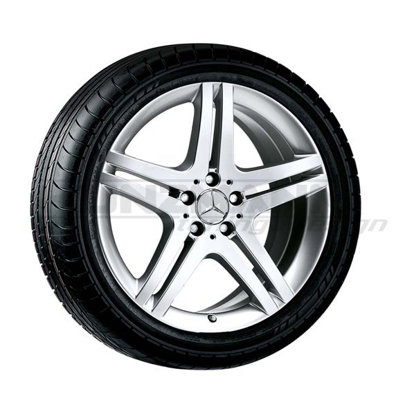 Mercedes-Benz light-alloy wheels in a 5-double-spoke-design | 19 inch | Mercedes-Benz SL R230