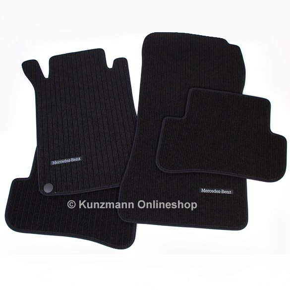 Car rib floor mats Mercedes C-Class W203 original Mercedes-Benz in black