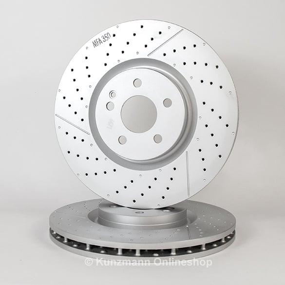 Cla 45 amg brake disc set cla w117 genuine mercedes benz for Mercedes benz genuine parts germany