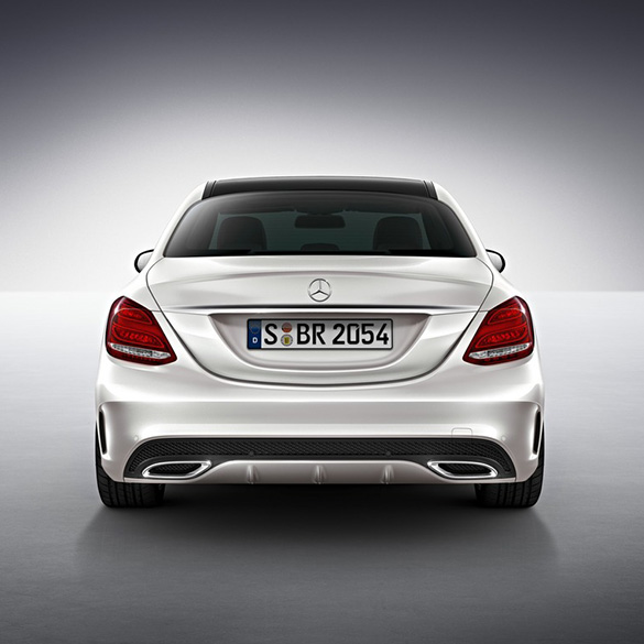 amg styling rear apron c class w205 genuine mercedes benz. Black Bedroom Furniture Sets. Home Design Ideas