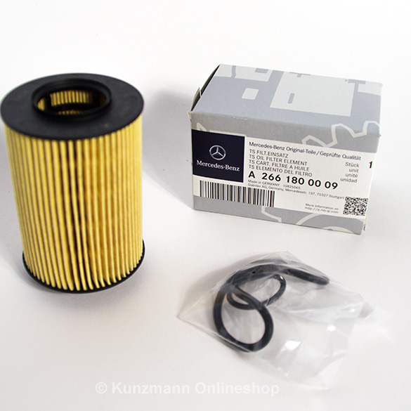 Genuine mercedes benz oil filter oil filter inset a2661800009 for Mercedes benz recommended oil