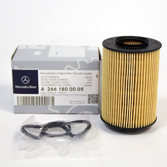 genuine mercedes benz oil filter oil filter inset a2661800009