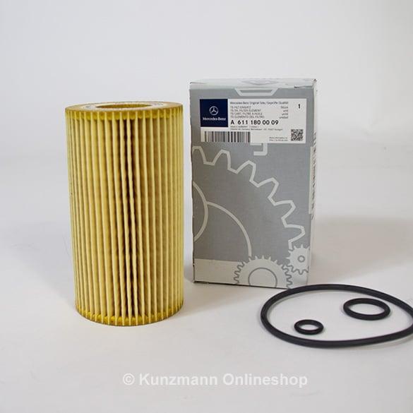 lfilter filtereinsatz original mercedes benz a6111800009. Black Bedroom Furniture Sets. Home Design Ideas