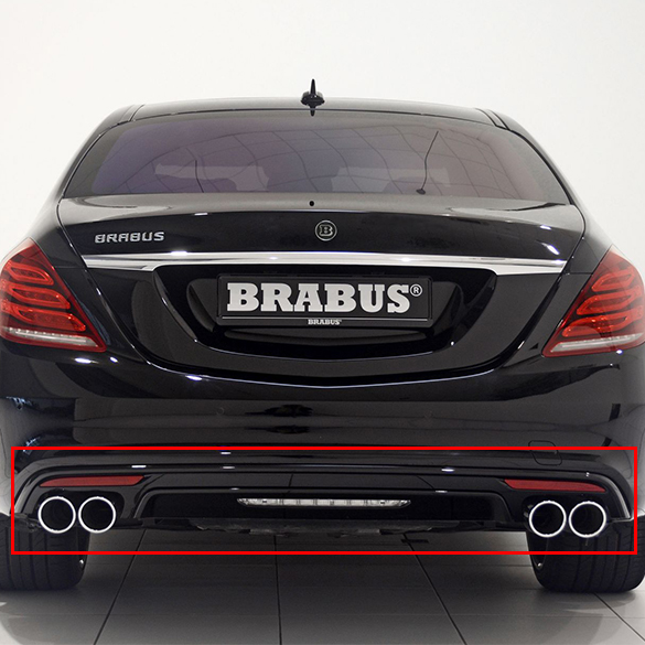 Mercedes Benz Brabus >> Brabus Rear Bumper Mercedes Benz S Class W222 With Amg Package