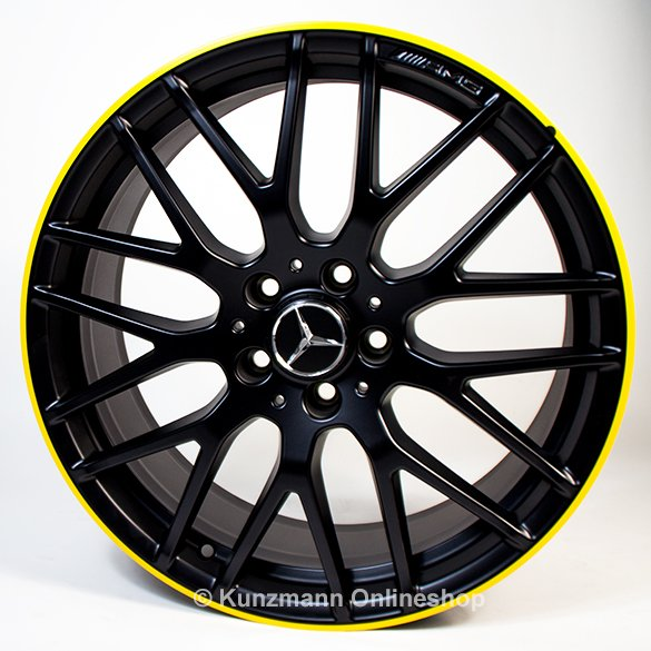 AMG CLA 45 19 Zoll Felgen Satz Yellow Night Edition CLA 117 Original Mercedes-Benz