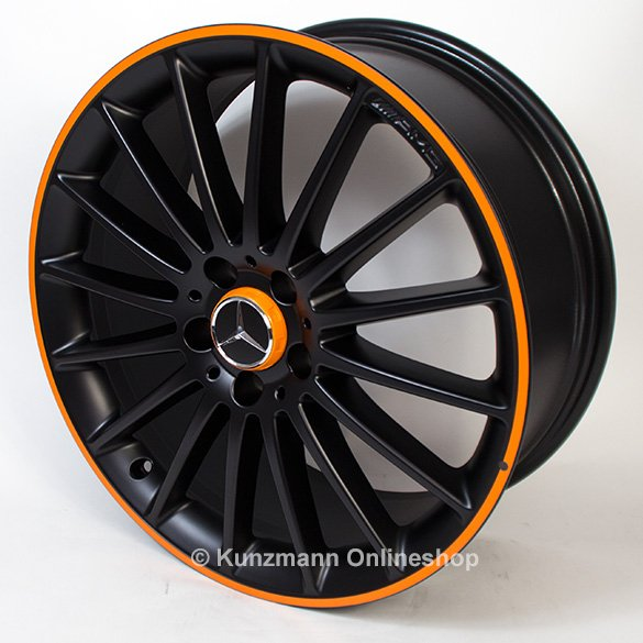Mercedes Benz Rims >> AMG 19-inch wheel set Orange Art Edition CLA 45 AMG W117 genuine Mercedes-Benz