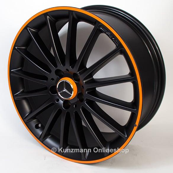 amg felgen 19 zoll vielspeichen orange art edition cla 117. Black Bedroom Furniture Sets. Home Design Ideas