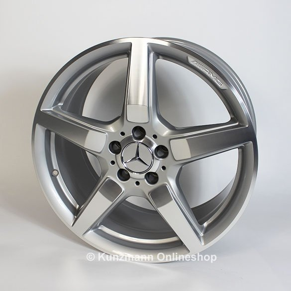 Amg 19 inch alloy wheel set cls w218 original mercedes for Mercedes benz amg rims for sale