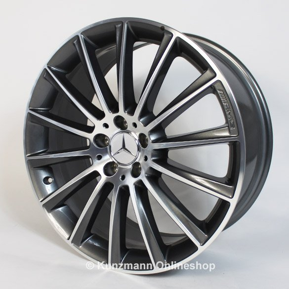 Amg 19 inch alloy wheel set multi spoke wheel aluminum for Mercedes benz mag wheels