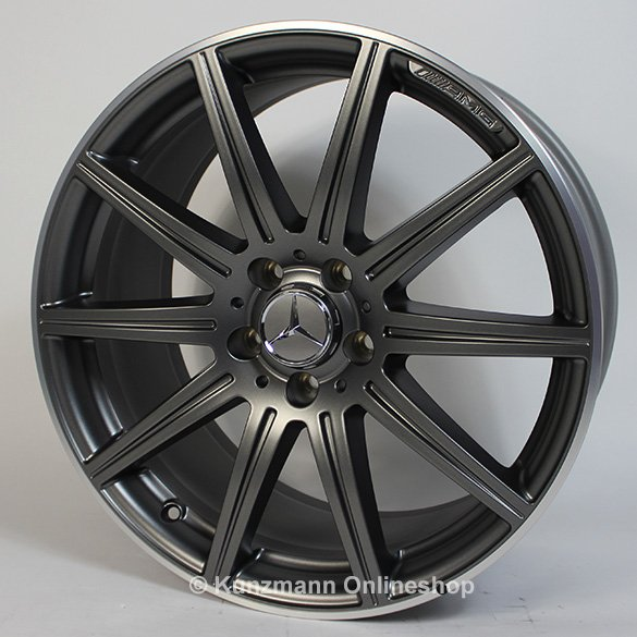 CLS 63 AMG 19-inch alloy wheel set 10-spoke alloy wheels Mercedes-Benz CLS W218 gray matte
