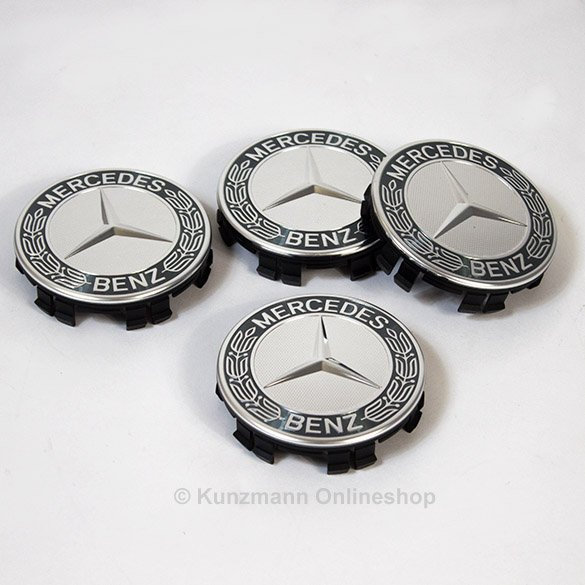 Lorbeerkranz Nabendeckel in grau Original Mercedes-Benz