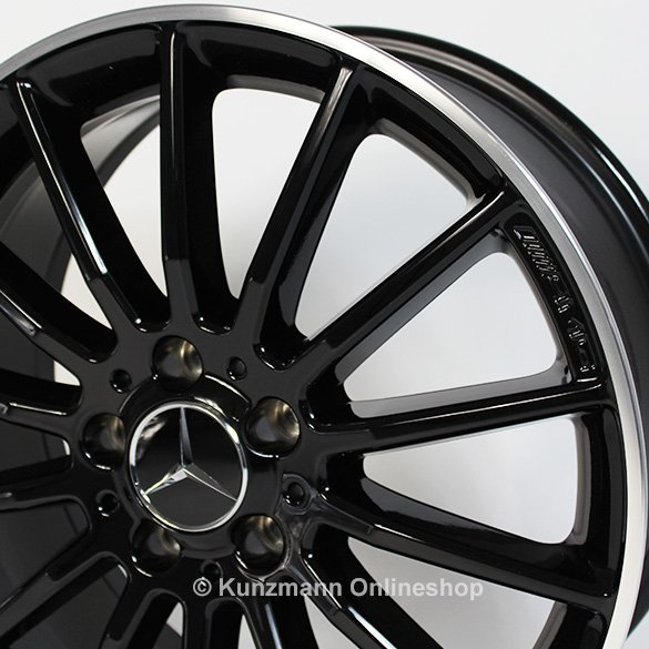 Amg multispoke rim set a class w176 18 inch genuine for Mercedes benz wheels rims