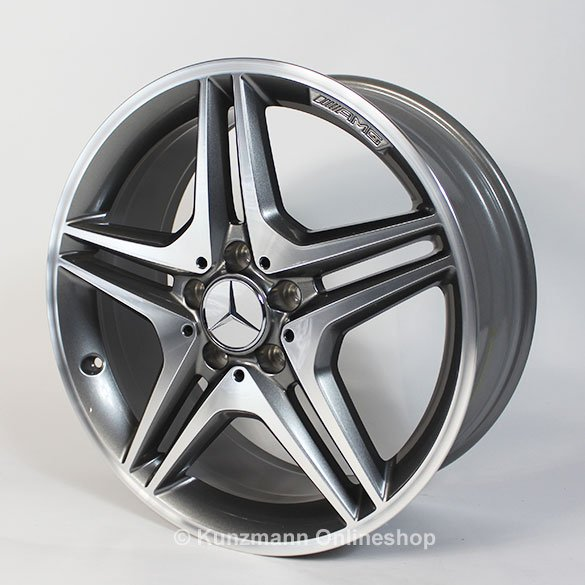 Amg 18 inch rim set a class w176 5 double spoke for Mercedes benz amg rims for sale