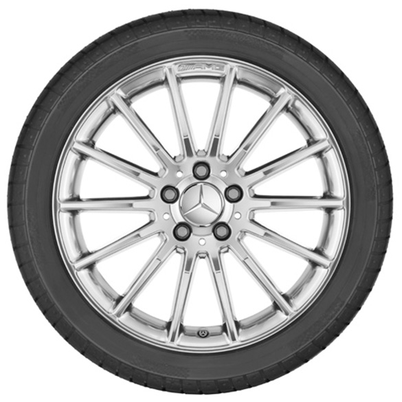 Amg 18 inch alloy wheel set a class w176 multi spoke for Mercedes benz amg alloy wheels