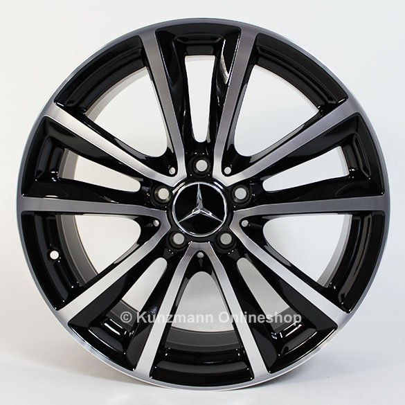 genuine mercedes benz 5 double spoke rims b class w246