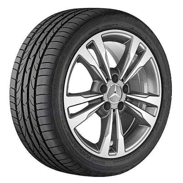 Mercedes Benz Original Rims: 17-inch Summer Complete Wheels