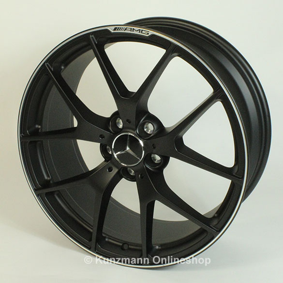 C 63 amg 19 inch summer complete wheels edition 507 black for Mercedes benz amg rims for sale