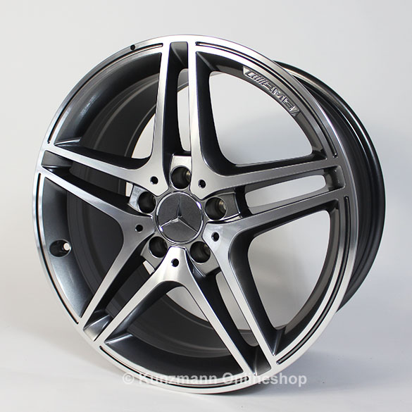 Amg 18 inch summer complete wheels c class w204 5 twin for Mercedes benz 18 inch rims