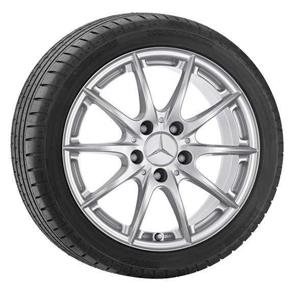 Genuine mercedes benz snow wheels 1 set 16 inch c class for Mercedes benz c300 tire pressure