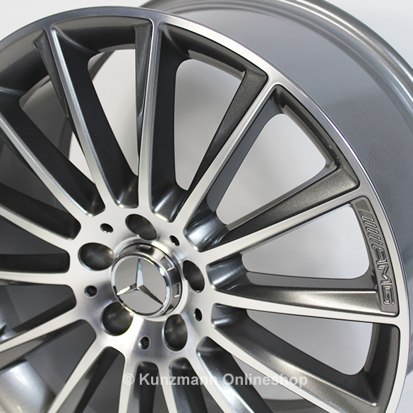 Amg 19 inch summer complete wheels c class w205 multi for Mercedes benz 19 inch amg wheels