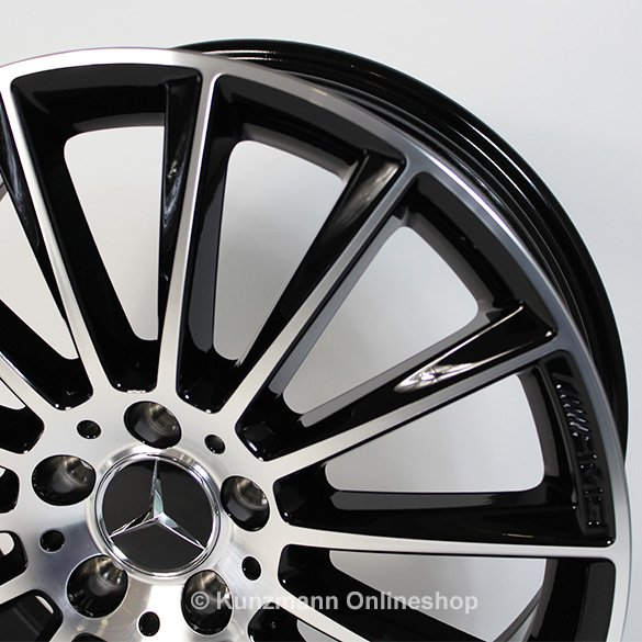 C 43 amg 19 inch aluminium wheel set multispoke black c for Mercedes benz original wheels